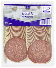 Horeca Select Salami 1A mit Käserand geschnitten 46 Scheiben 500 g Packung