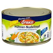 Erasco Hühner Nudeltopf mit Fleisch, Muschelnudeln und Suppengemüse 4,5 kg Dose