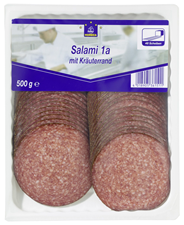 Horeca Select Salami 1A mit Kräuterrand geschnitten 46 Scheiben 500 g Packung