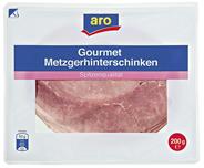 aro Gourmet Metzgerhinterschinken geschnitten gekocht, gepökelt, vak.-verpackt 200 g Packung