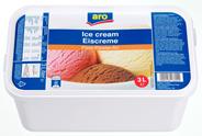 aro Eiscreme Fürst Pückler Art Vanille-, Schokoladen- und Erdbeereis 3 l Packung