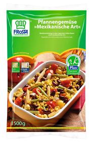 Frosta Mexikanisches Pfannengemüse mit Mais, Paprika, Bohnen 6 x 1,5 kg Beutel
