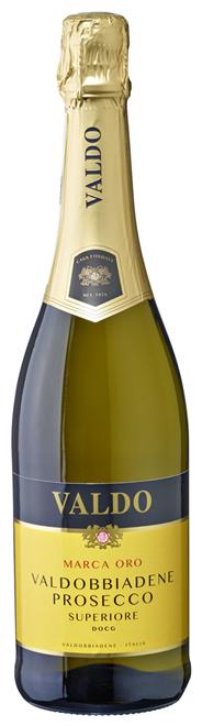 Valdo Prosecco Marca Oro trocken DOCG Perlwein aus Qualitätswein mit kontrollierter und garantierter Herkunftsbezeichnung, höchste Qualitätsstufe, aus Italien 6 x 0,75 l Flaschen
