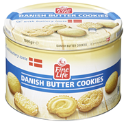 Fine Life Danish Butter Cookies 1 kg Dose