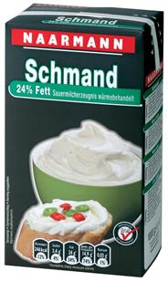 Naarmann H-Schmand 24 % Fett 12 x 1 kg Packungen