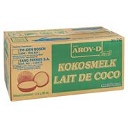 Aroy-D Kokosnussmilch Zutat für Cocktails & asiatische Spezialitäten 12 x 1 l Faltschachteln