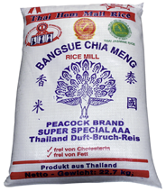 Blue Peacock Duft Bruch Reis Premiumqualität AAA 22,7 kg Sack