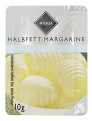 Rioba Halbfett-Margarine Einzelportionen 39 % Fett, 120 Stück à 10 g 1,2 kg Karton