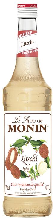 Monin Sirup Litchi 6 x 0,7 l Flaschen