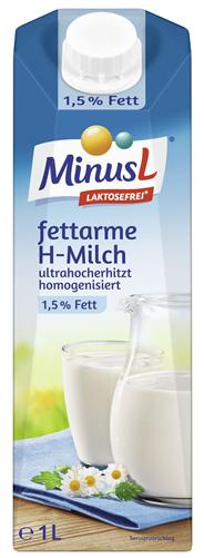 MinusL fettarme H-Milch laktosefrei, 1,5 % Fett 10 x 1 l Packungen