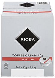Rioba Kaffeesahne Einzelportionen 240 Stück á 10 g, 10 % Fett 2,4 kg Karton
