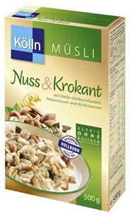Kölln Müsli Nuss & Krokant 500 g Packung