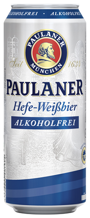 Paulaner Hefe-Weißbier Alkoholfrei - 24 x 500 ml Dosen