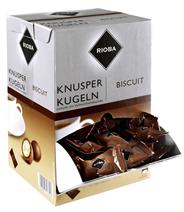 Rioba Knusperkugeln Einzelportionen 144 Stück á 2,4 g, mit Vollmilchschokolade 350 g