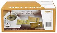 Hellma Feines Gebäck 3er Mix Sortiert Kekse mit Karamell-, Schokolade oder Vanille-Geschmack, 200 Stück á 5,6 g 1,12 kg Karton