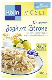 Kölln Knusper Müsli Joghurt Zitrone 500 g Packung