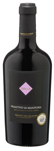 Zolla Primitivo di Manduria Rotwein Anbaugebeit: Manduria / Geschmack: Trocken / Rebsorte: Primitivo 6 x 0,75 l Flaschen