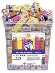 Ahoj-Brause Bonbon Stangen Mix aus Zitrone-, Himbeer- und Cola-Geschmack, 100 Stück à 23 g 100 x 23 g