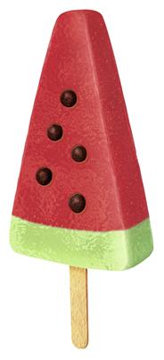 Nestlé Schöller Eiscreme Pirulo Watermelon Wassermelone und Apfel Fruchteis 36 x 73 ml Karton