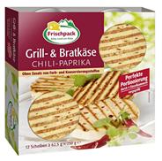Frischpack Grill-Bratkäse Chili-Paprika 45 % Fettgehalt 45 % Fett 750 g Packung