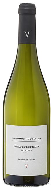 Vollmer Grauburgunder Sonett QbA Weißwein trocken - 6 x 0,75 l Flaschen