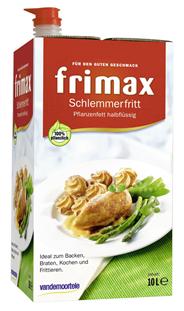 Frimax Schlemmergold Pflanzenfett halbflüssig 100 % Fett 10 l Box