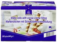 Horeca Select Waffelröllchen mit Schokoladencreme, 200 Stück à 3,1 g 620 g