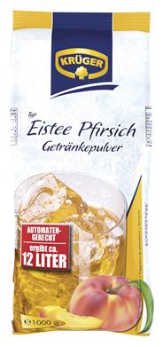 Krüger Eistee Pfirsich Getränkepulver 1 kg Beutel