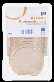 aro Kassler Bratenaufschnitt gepökelt, vak.-verpackt 150 g Packung