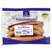 Horeca Select Delikatess Wiener Würstchen gebrüht, im Naturdarm, 20 Stück á 75 g, Aromaschutz-verpackt ca. 1,5 kg