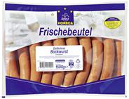Horeca Select Delikatess Bockwurst im Naturdarm, 19 Stück á 80 g, Aromaschutz-verpackt ca. 1,5 kg