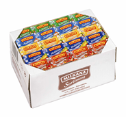 Milkana Schmelzkäsemischkarton Einzelportionen Mix aus Sahne, Kräuter, Holländer, Tomate und Allgäuer, 100 Stück á 20 g, 2 kg Karton