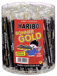 Haribo Bonner Gold 150 Stück à 18 g 6 x 2,7 kg Dosen