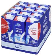Weihenstephan H-Alpenmilch 0,1 % Fett, mit Schraubverschluss 12 x 1 l Packungen