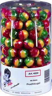 Kuefa Fruchtkugel Lutscher 100 Stück á 17,9 g 1790 g Dose
