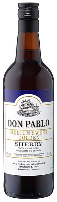 Don Pablo Sherry Golden Medium 15 % Vol. 6 x 0,75 l Flaschen