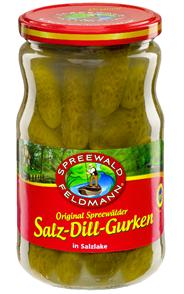 Spreewald-Feldmann Echte Spreewälder Saure Gurken Salz-Dill-Gurken 720 ml Glas