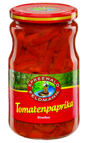 Spreewald-Feldmann Tomaten Paprika Streifen 720 ml Glas