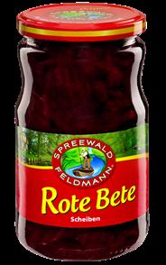 Spreewald-Feldmann Rote Bete in Scheiben 720 ml Glas