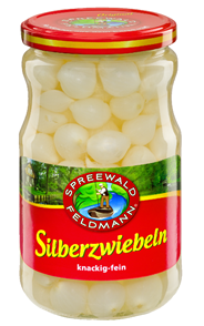 Spreewald-Feldmann Silberzwiebeln knackig-fein 720 ml Glas