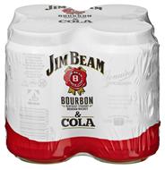 Jim Beam & Cola 10 % Vol. 24 x 0,33 l Dosen