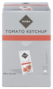 Rioba Tomatenketchup Einzelportionen 100 Stück á 15 ml 1,5 l Karton
