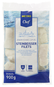 METRO Chef Steinbeißerfilet, tiefgefroren, roh, praktisch grätenfrei, ca. 160 - 180 g Stücke - 900 g Beutel