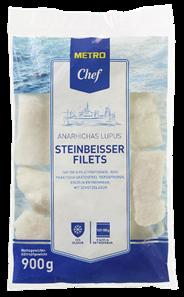 METRO Chef Steinbeißerfilet, tiefgefroren, roh, praktisch grätenfrei, ca. 160 - 180 g Stücke - 10 x 900 g Beutel