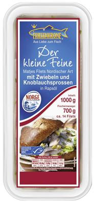 Matjesfilets Nordischer Art, mit Zwiebeln und Knoblauchsprossen, in Rapsöl 1kg