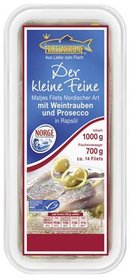 Matjesfilets Nordischer Art, mit Weintrauben und Prosecco 1kg