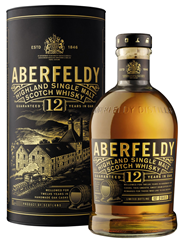 Aberfeldy Highland Single Malt Scotch Whisky 12 Years Old 40 % Vol. 0,7 l Flasche