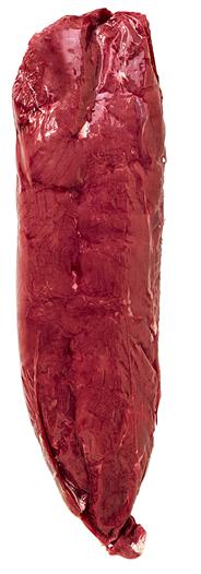 Hirsch Filet tiefgefroren, mit Kopf, Gastro-Zuschnitt, neuseeländische Herkunft, vak.-verpackt ca 600 g