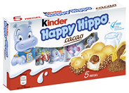 Kinder Happy Hippo Cacao 5 Stück á 104,5 g 210 x 5 Stück, 104,5 g Karton