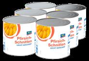 aro Pfirsich-Schnitten leicht gezuckert 6 x 2,65 l Dosen